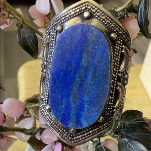 Antique lazuli lapis cuff